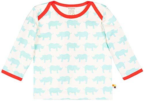 loud + proud loud + proud Unisex Baby Shirt mit Druck, aus Bio Baumwolle, GOTS zertiziziert, Blau (Cloud Cl), 80 (Herstellergröße: 74/80)