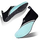 Water-Shoes-Swim-Shoes Quick-Dry Barefoot Aqua-Socks-Beach-Shoes for Pool Yoga Surf for Women-Men(Mesh-XB/Moonlight-40/41)