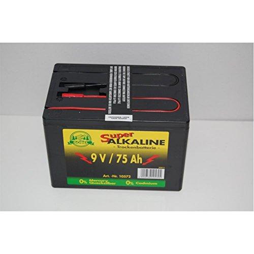 Weidezaunbatterie 9V 75Ah, Alkaline-Batterie Trockenbatterie Einwegbatterie, klein