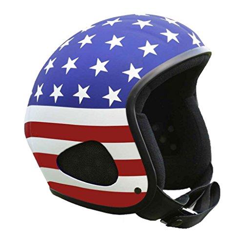 Skorpion TITAN-Kulthelm als US-Flag Biker, Chopper, Ski, Harley, Jethelm , Gr.: XL