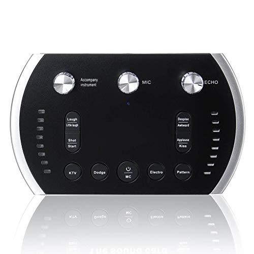 JYDQM Tarjeta de Sonido Interfaz de Audio USB Internet Externo Live Streaming Música en Vivo Aplicable o grabación Micrófono Guitar Rnchor