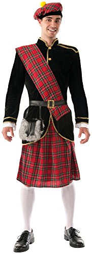 Forum Novelties Men's Scotsman Costume, Red/Black, Standard