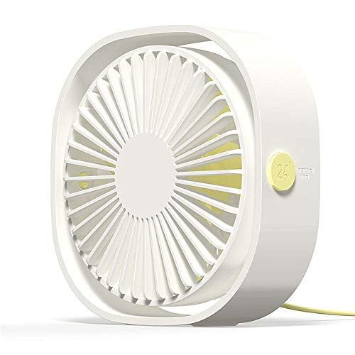 LZQBD Mini ventilador de escritorio USB de 3 velocidades, ventilador de refrigeración portátil personal, con ángulo ajustable de rotación 360 para oficina, hogar, automóvil, viaje a/B/Com