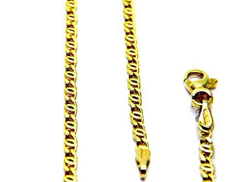 Collana da Uomo in Oro Giallo 18kt (750) Catena Maglia Tigre Cm 50 Catenina Classica