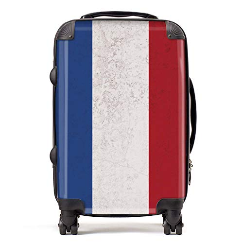 Vlag Nederland/Nederlandse vlag West-Europa koffer cabine met TSA Lock 4 draaibare wielen bagage tas 58 cm 52L