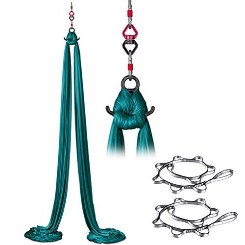 Aerial Yoga Hangmat-Riem-Anti-zwaartekracht Yoga Swing Hangmat Acrobatische Dans Antislip Zijde Lage Elasticiteit Hangend Bodybuilding Fitnessapparatuur Omgekeerde Swing, Gymnastiek Kernsterkte