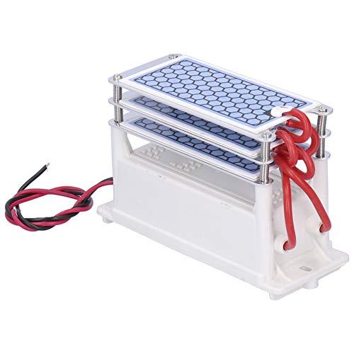 Jeanoko Placa de cerámica ozonizador placa ozonizador purificador ozono generador 15G para gabinetes de zapatos electrónicos para filtros de aire (AC110V)