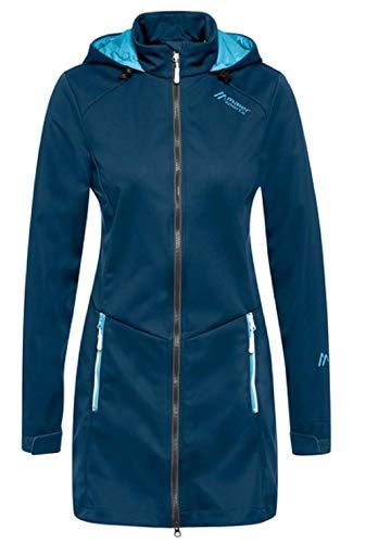 Maier Sports Damen Samum Mantel, Blue Wing Teal, 38