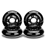 NONMON Inline Skate Wheels 72MM 85A, Skates Replacement Wheel, Black, 4 Pack
