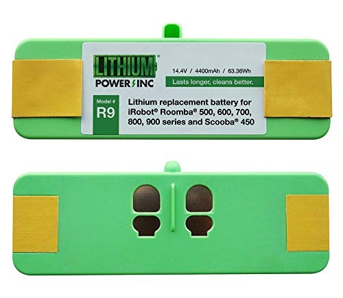 Lithium Roomba Replacement Battery for iRobot Roomba 980, 960, 895, 890, 860, 695, 690, 680, 675, 640, 614, 900, 800, 700, 600, 500 Series and Scooba 450, 4400mAh - UL&CE Certified Battery Pack
