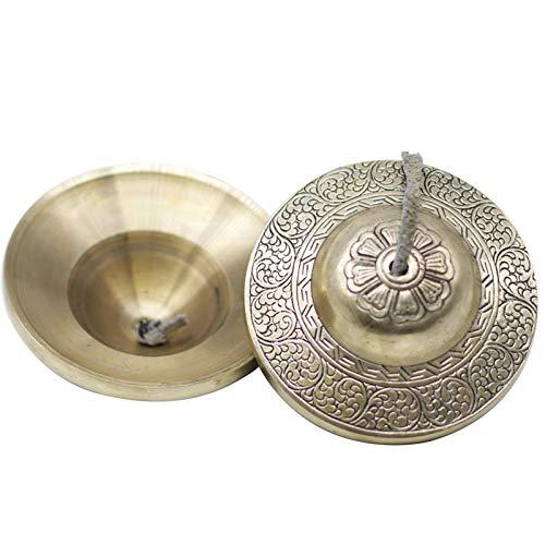 Gandhanra Tingsha Campane tibetane con bellissima custodia dal Nepal,Per guarigione dal suono,yoga,meditazione,consapevolezza-Campane tubolari-Accordato a mano in chiave,Fortunato Nube