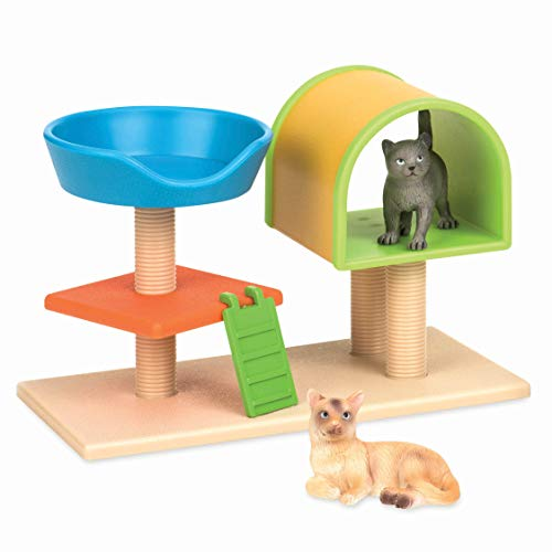Terra by Battat – Cat Tree – Cat Toy Animal Figure Playset for Kids 3-Years-Old and Up (3 pc)