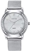 Mestige Antoine Women's Silver Dial Stainless Steel Band Watch - MSWA3020