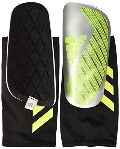 adidas X PRO Shin Guards, Silver met./Solar Yellow/White, M