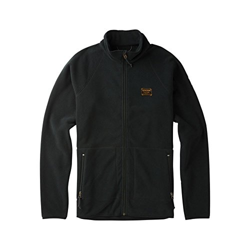 Burton Herren Ember Full-Zip Fleecejacke, True Black, XL