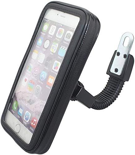 Universelle Motorrad-Handyhalterung für Fahrrad, Kajak, wasserdicht, 360 ° für iPhone12 11 Pro Max Samsung S20 OnePlus 8 Nord Pro bis zu 6,7 Zoll (17 cm), inklusive Handytasche und Griff