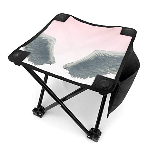 Best Angel Wings Portable Folding Stool Camping Stool Folding Chair for BBQ,Camping,Fishing,Travel,Hiking,Garden