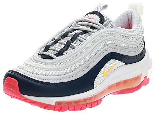 Nike AIR MAX 97 W Trainers Women White/Blue/Orange - UK:6 - Low top Trainers