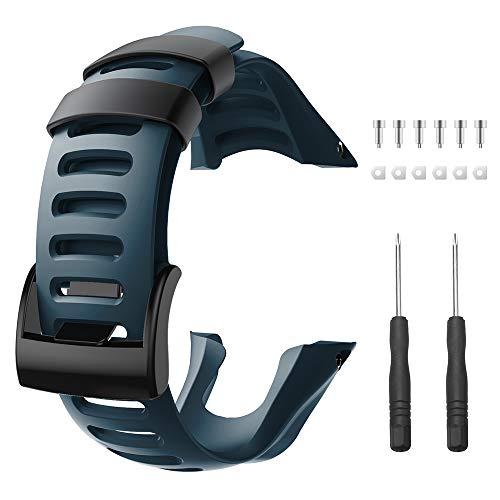 ANBEST Kompatibel mit dem Suunto Ambit 3 Uhrenarmband, weiches TPU Ersatz Sportarmband als Zubehör für den Suunto Ambit 3 Peak, 3 Sport, 3 Run, 2R, 2S, 2, 1