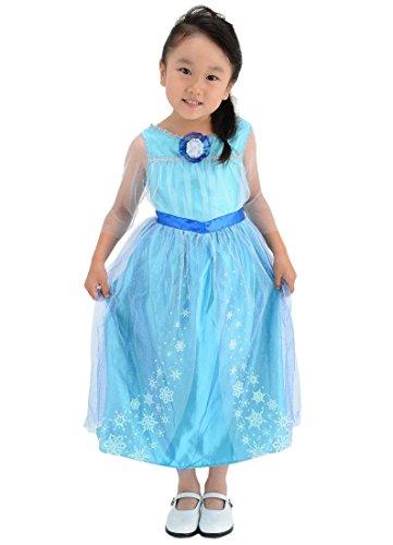 【国内販売正規品】ディズニー アナと雪の女王 エルサ おしゃれドレス キッズコスチューム 女の子 100cm-110cm