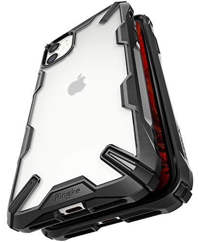 Ringke Fusion-X Designed for iPhone 11 Case Back Cover, [Military Drop Tested] Ergonomic Transparent PC Back TPU Bumper Impact Resistant Protection for iPhone XI Back Cover Case (2019) - Black