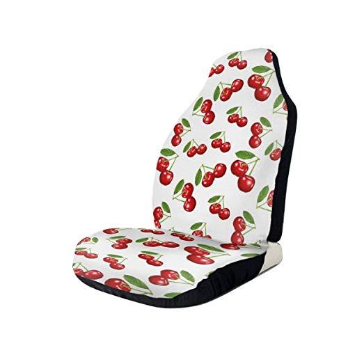 Fundas de asiento de coche Manta de silla de montar elástica de fruta de cereza roja con asiento Universal para la mayoría de coches/camiones/SUV