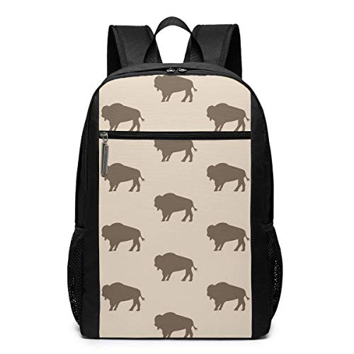Yuanmeiju Laptop Backpack Neutral Buffalo Bison Herd Business Travel Computer Bag for Women and Men, College School Backpack Fits in Laptop, Notebook