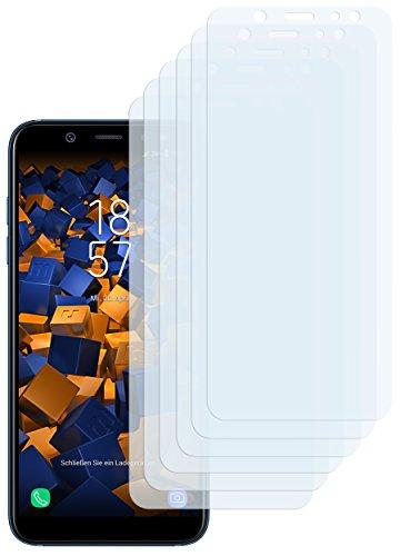 mumbi Schutzfolie kompatibel mit Samsung Galaxy A6 Folie klar, Displayschutzfolie (6X)