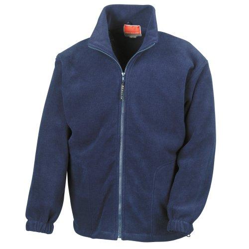 Result Herren Fleece-Jacke, Antipilling M,Marineblau
