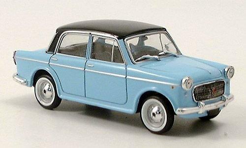 Fiat 1100, hellblau, Modellauto, Fertigmodell, Starline 1:43