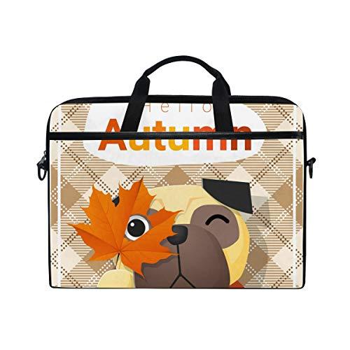 Irud Laptop-Tasche Hello Herbst Saison Thema Aktentasche Schultertasche Messenger Bag Tablet Business Carrying Handtasche Laptop Sleeve für Damen und Herren (15-15,4 Zoll)