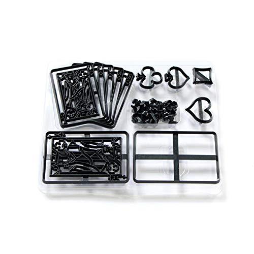 28pcs Patchwork Cutters - Playing Cards Silhouette Set Sugarcraft and Cake Kuchen Dekorieren Werkzeug Cookie Schneiden