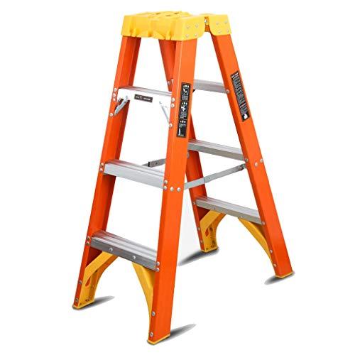 Escalera plegable taburete banqueta Escaleras de tijera de fibra de vidrio de...