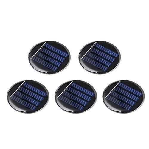 DealMux 5 Stücke 2 V 80mA Poly Mini Runde Solarzelle Panel Modul DIY für Telefon Licht Spielzeug Ladegerät 55mm Durchmesser