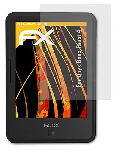 atFoliX Beschermfolie compatibel met Onyx Boox Faust 4 Schermbeschermer, anti-reflecterend en schokabsorberend FX Folie…