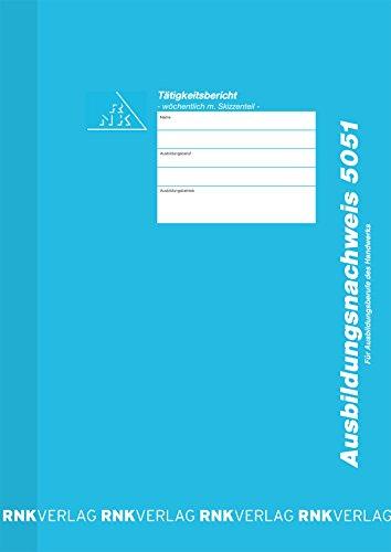 RNK - 5051 Wochenbericht / Heft, mit Skizzenteil in Millimeter-Einteilung, DIN A4, 30 Blatt