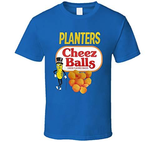 LIYUAN - Camiseta de comida para niños, diseño de bolas de queso, color azul