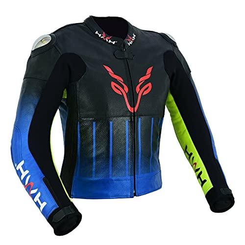 HMH Sports Chaqueta de piel para moto de carreras de todos los tamaños disponibles piel de vaca (UK, x_l)