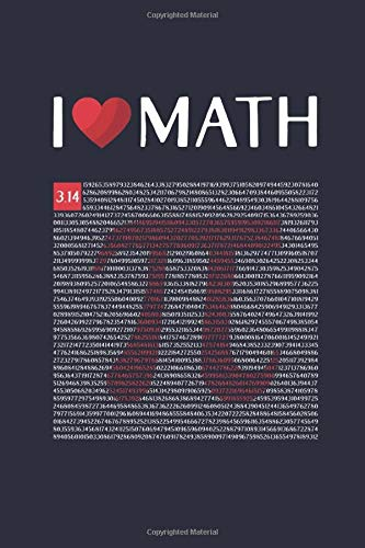 I Love Math: Quad Ruled 5x5, Grid Paper for Math & Science Students  (6x9) Composition Notebook