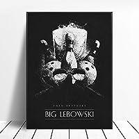 ビッグレボウスキーブラックホワイトクラシック映画ポスター壁アート画像キャンバスポスターとプリントHDプリント油絵壁画リビングルーム家の装飾フレームレス絵画