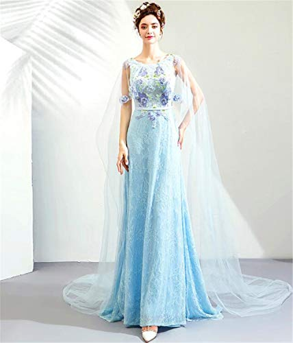 LYJFSZ-7 Elegante Vestido de Novia Hermoso de la Moda del Cielo Azul...