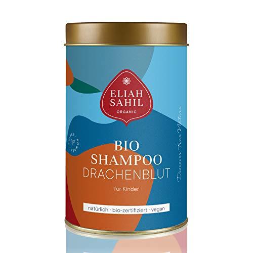 Bio poeder shampoo van ELIAH SAHIL I 100 gr. Shampoopoeder, ca. 30 x wassen I Bio natuurlijke cosmetica 100% biologisch en organisch I dames en heren shampoo I KINDER - DRACHENBLUT