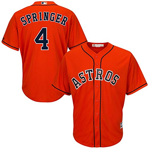 Outerstuff George Springer Astros Youth 8-20 Orange Alternate Cool Base Replica Jersey (Small 8)