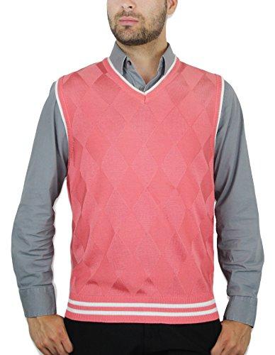 Blue Ocean Argyle Sweater Vest-Large