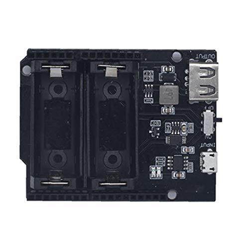 Runfon Lithium-Batterie-Ladegerät Schild Modul Dual-Ausgang Stromversorgung Wiederaufladbare 16340 Vorstand Kompatibel mit Cesp8266 Esp32