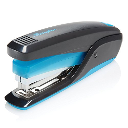 Swingline Stapler, Quick Touch Reduced Effort Stapling, Full Strip, 20 Sheets, Black/Blue (S7064506)