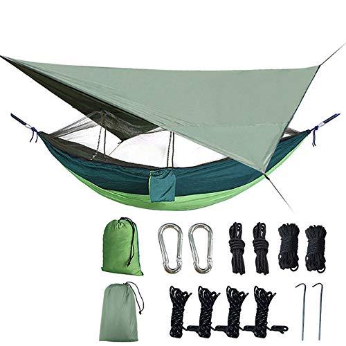 Lint sectie klamboe hangmat luifel tent opgezet outdoor dubbele parachute doek hangmat pergola anti-muggen en regen voor backpacken Travel