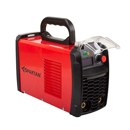 SPARTAN LT-250S12i Heavy Duty Single Phase Inverter Welding Machine (IGBT technology) 250A with Hot Start, Anti-Stick, Arc Force, Power Boost Functions- 6 month warranty (Red & Black, Pack of 1)