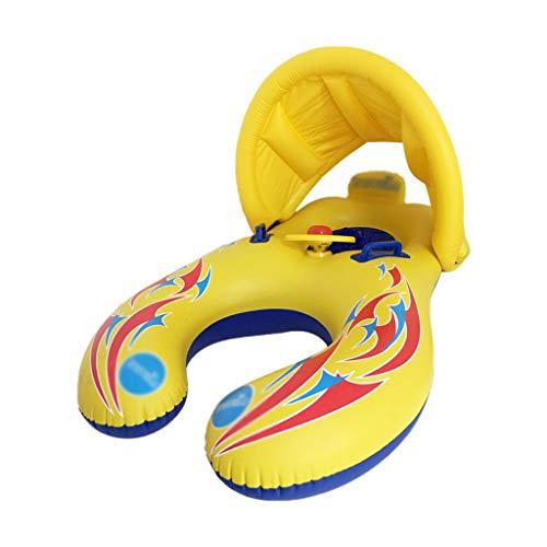 SHANCL Colchoneta Piscina Anillo de natación Bebé de Dibujos Animados Amarillo Juguete de Agua Asiento for niños Protección de Seguridad Piscina Flotante 1-5 años