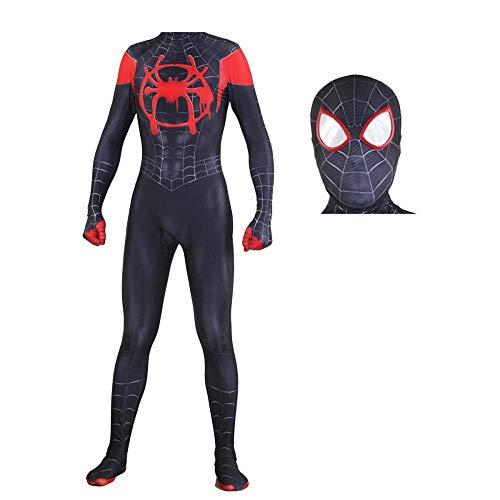 QTCWRL Cosplay Kostüm, Schwarze Spinne Kostümball Spiderman Cosplay Strumpfhose (Size : XXL)